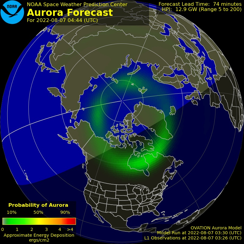 Aurora Forecast Northern Hemisphere